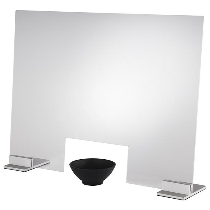 protector higiénico transparente, gris