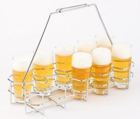 porta vasos de cerveza