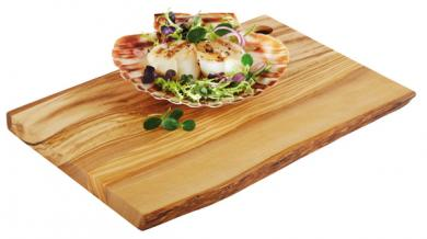 tabla de servir en madera de olivo 25 x 17 x 1,5 cm