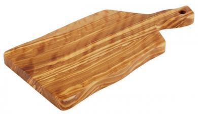 tabla de servir en madera de olivo 25 x 12,5 x 1,5 cm