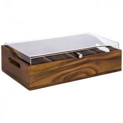 """caja de cubiertos con tapa """"ACACIA"""""""