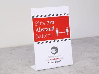 cartel de información / stand